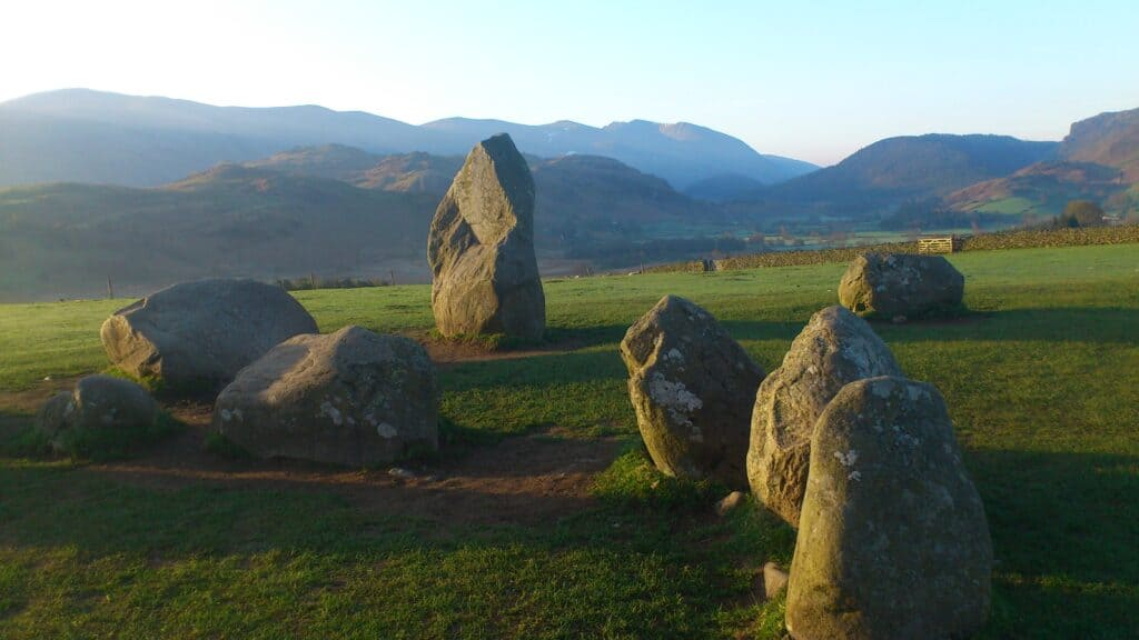 A group of stones at Castlerigg stone Circle