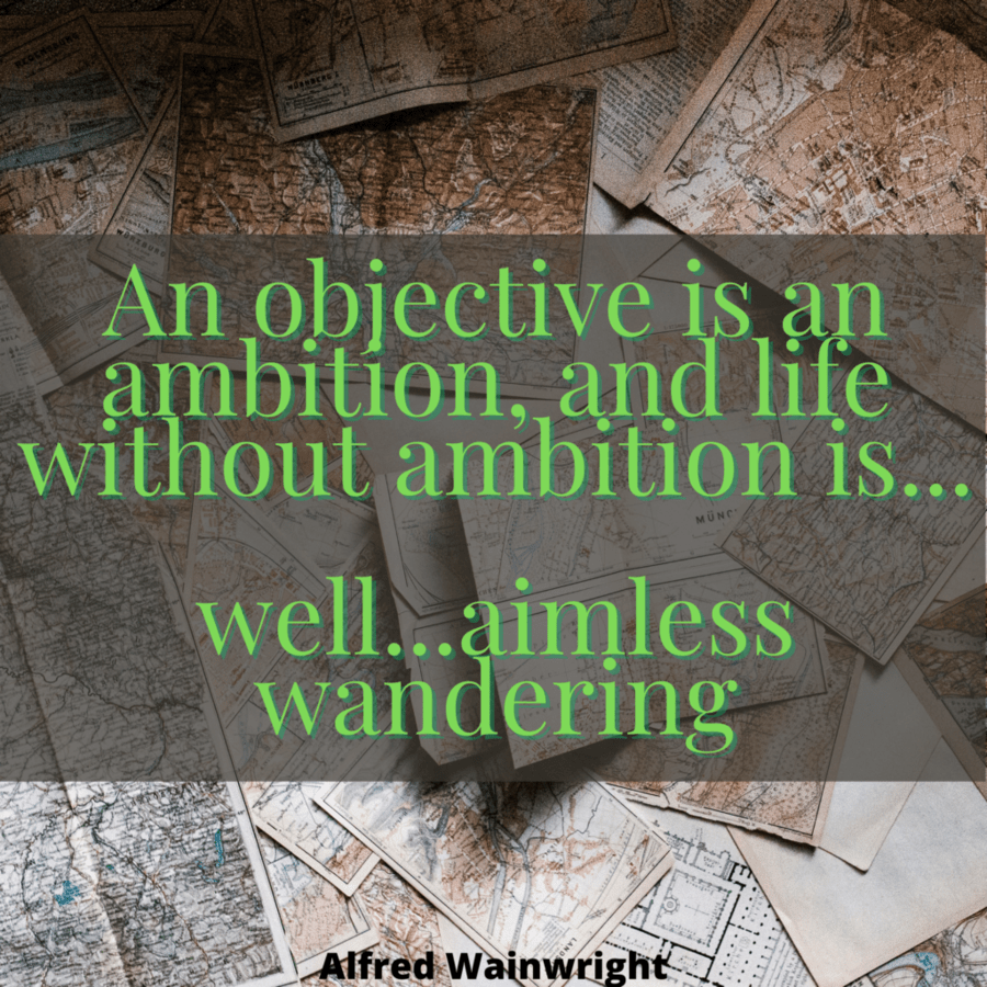 Aimless wandering Alfred Wainwright quote