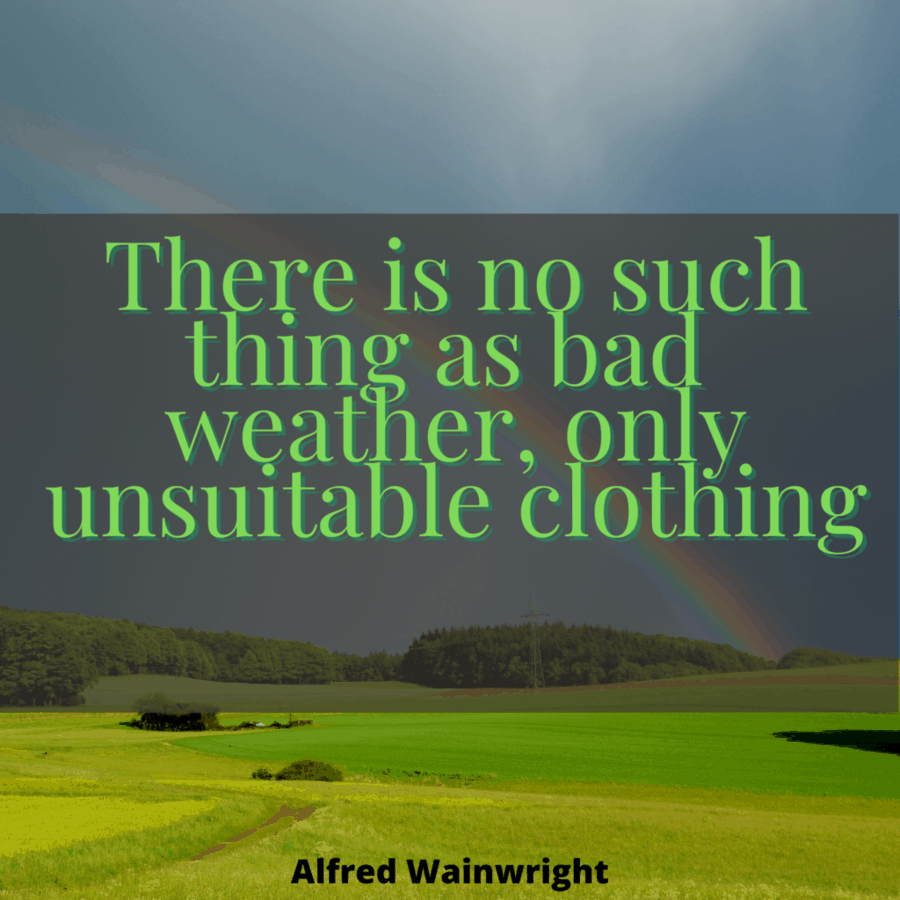 Bad weather quote by Alfred Wainwright