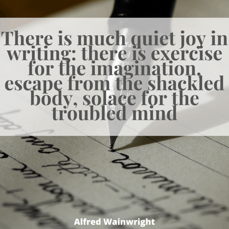 Beauty of writing A.Wainwright quote