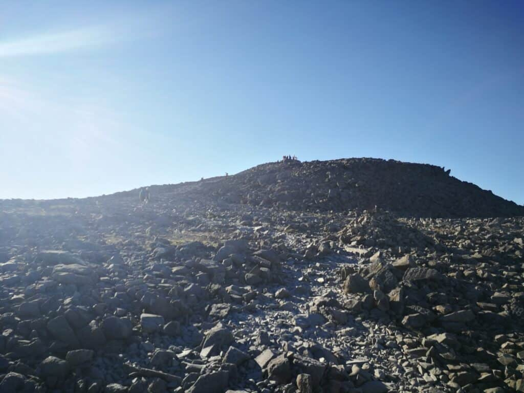 Boulder field on our Scafell Pike walk