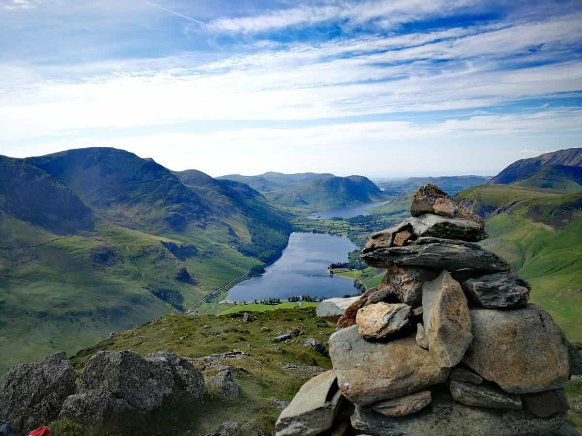 View from Fleetwith Pike cairn, one of the 214 Wainwrights