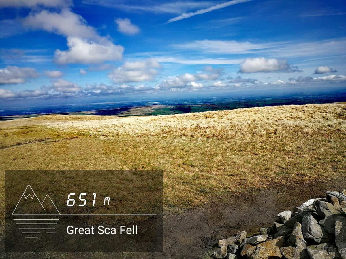 Great Ska-Fell summit view from cairn