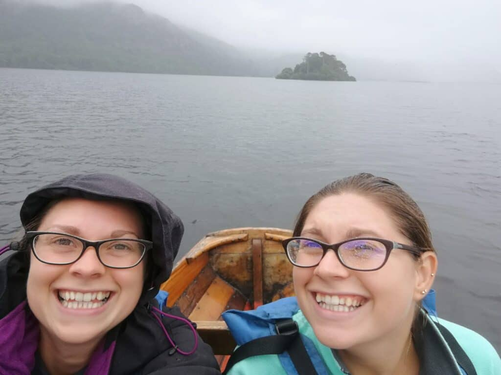 Rowing boat for hire on Derwent Water in the Lake District