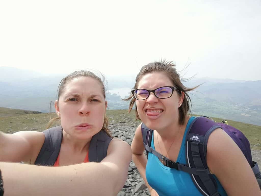 True Freedom Seekers pulling funny faces in the Lake District, Cumbria. Contact us!