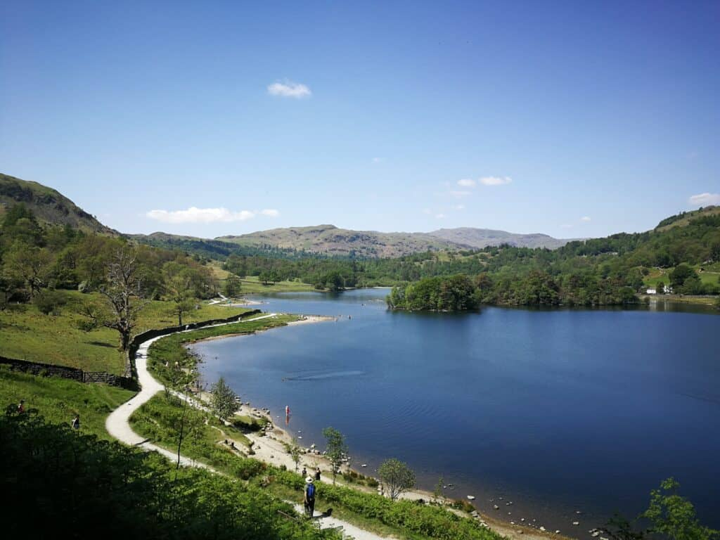 Looking over Rydal Water and the lakeshore walk