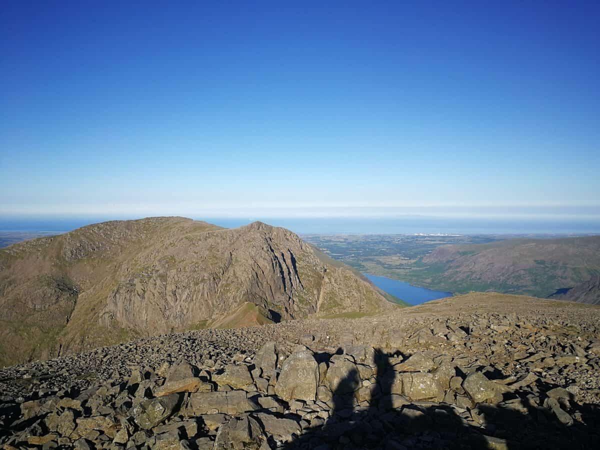 View towards Scafell from Scafell pike