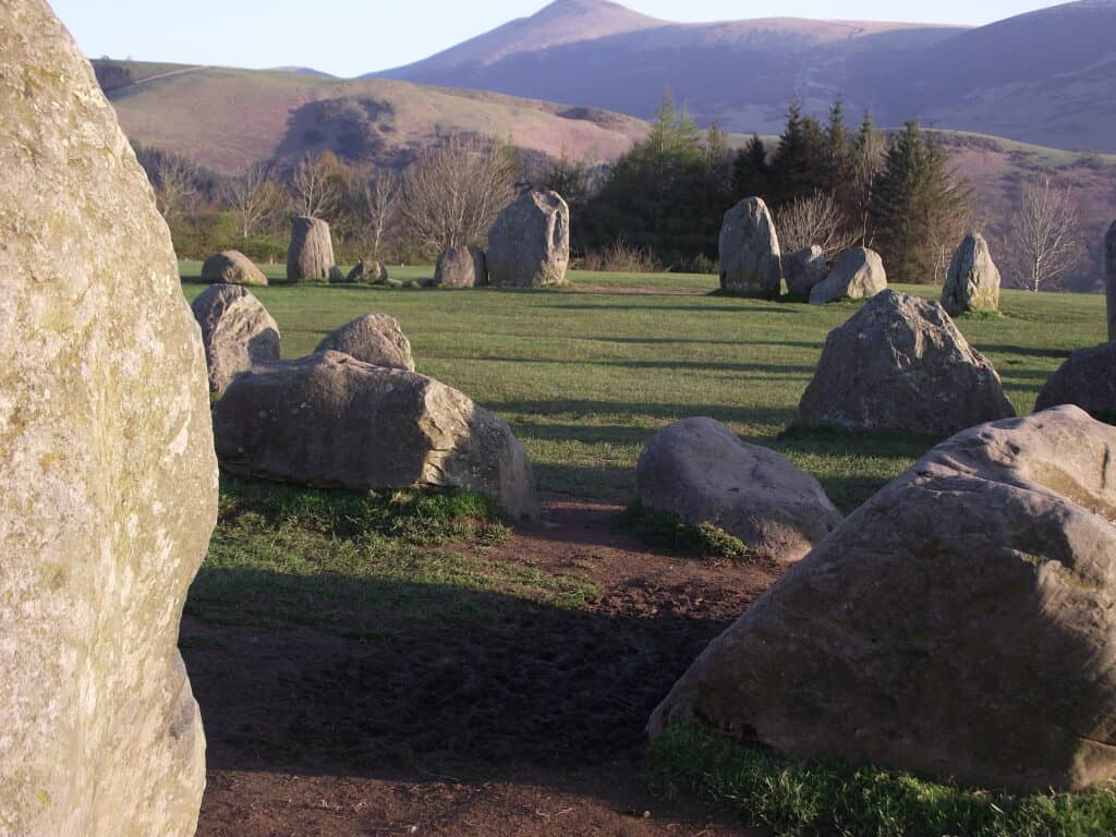 Stones just outside of the town of Keswick