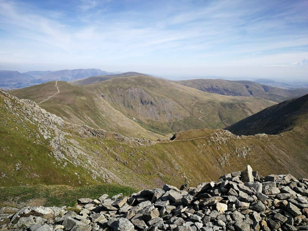 Swirral Edge, with White Side and Raise in the background. Another couple of good paths