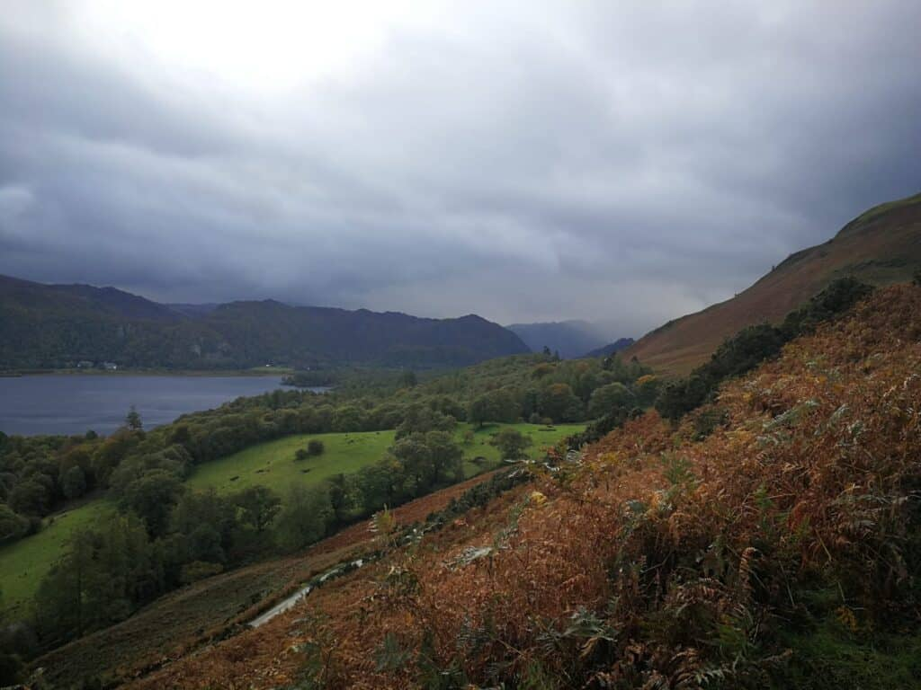 The start of our Catbells walk from Hawes End