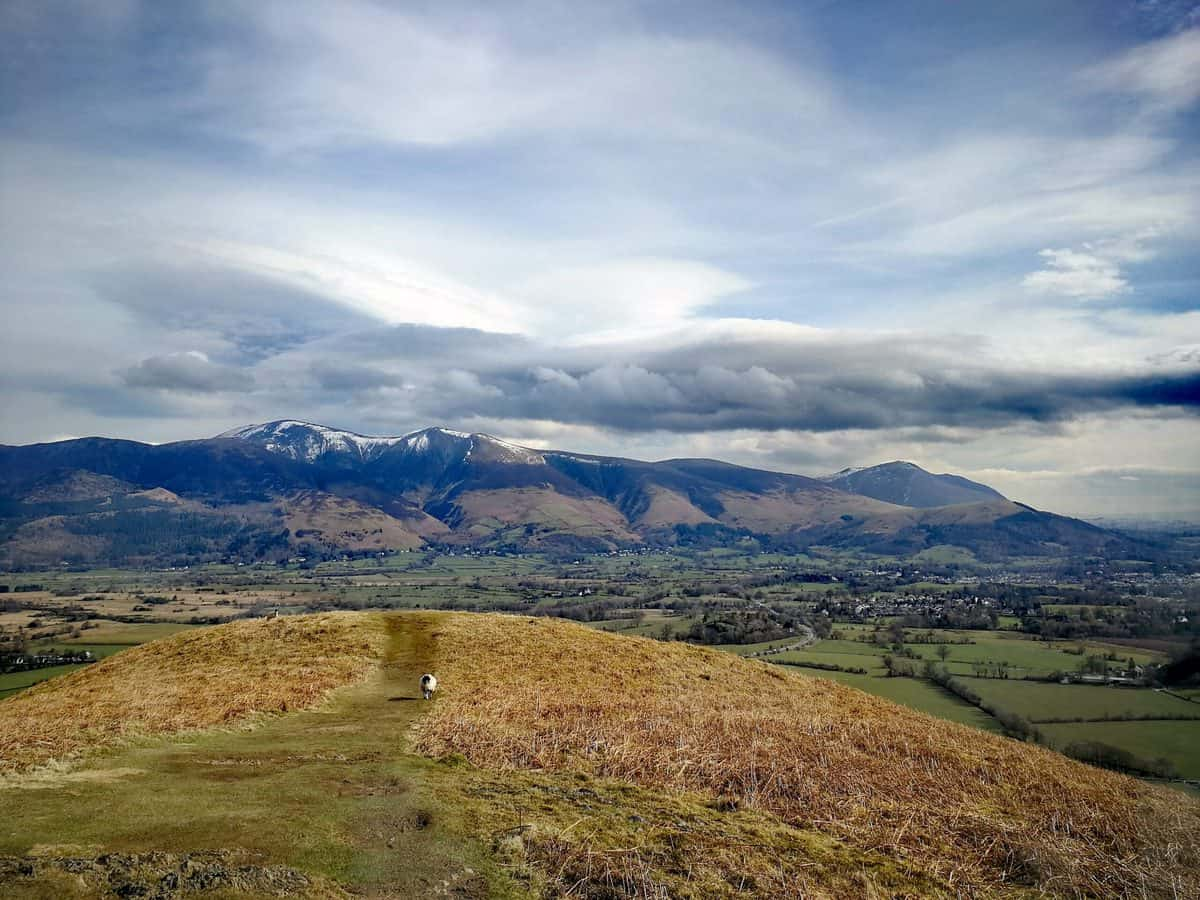 View from Barrow looking towards the Skiddaw range