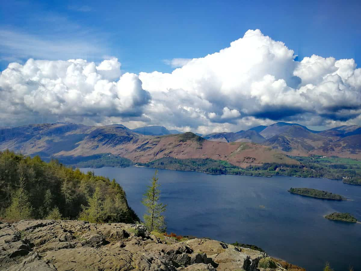 Looking down from Walla Crag to Derwent Water