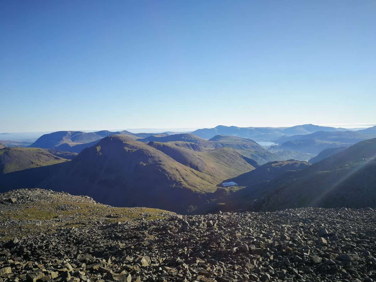View from Scafell Pike near Wasdale
