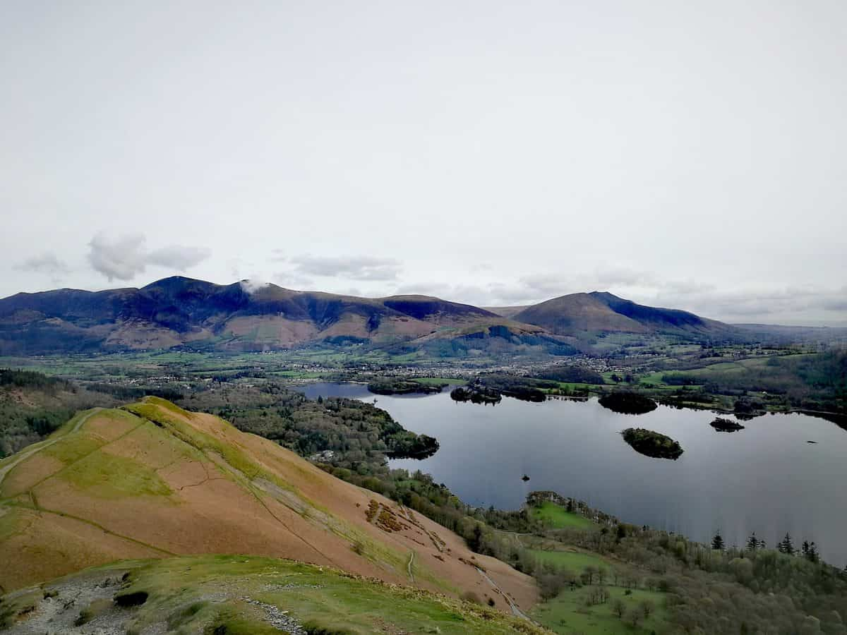 Views looking towards Derwent Water from Catbells