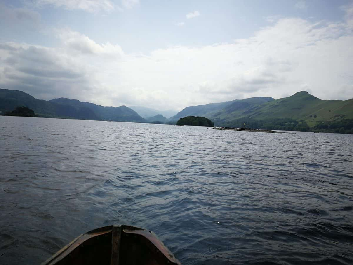 Rowing on Derwent Water in the Lake District