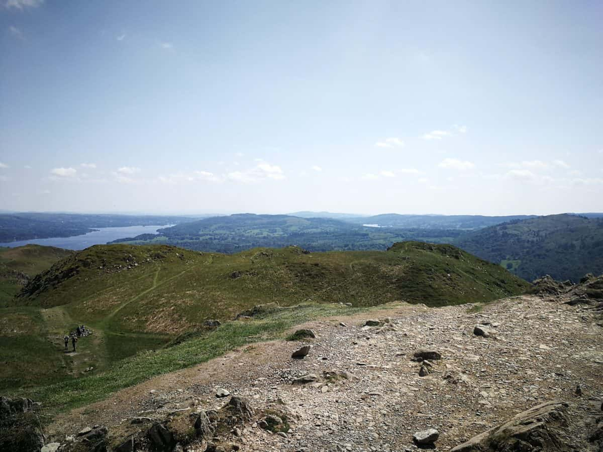 Views from the top of Loughrigg Fell