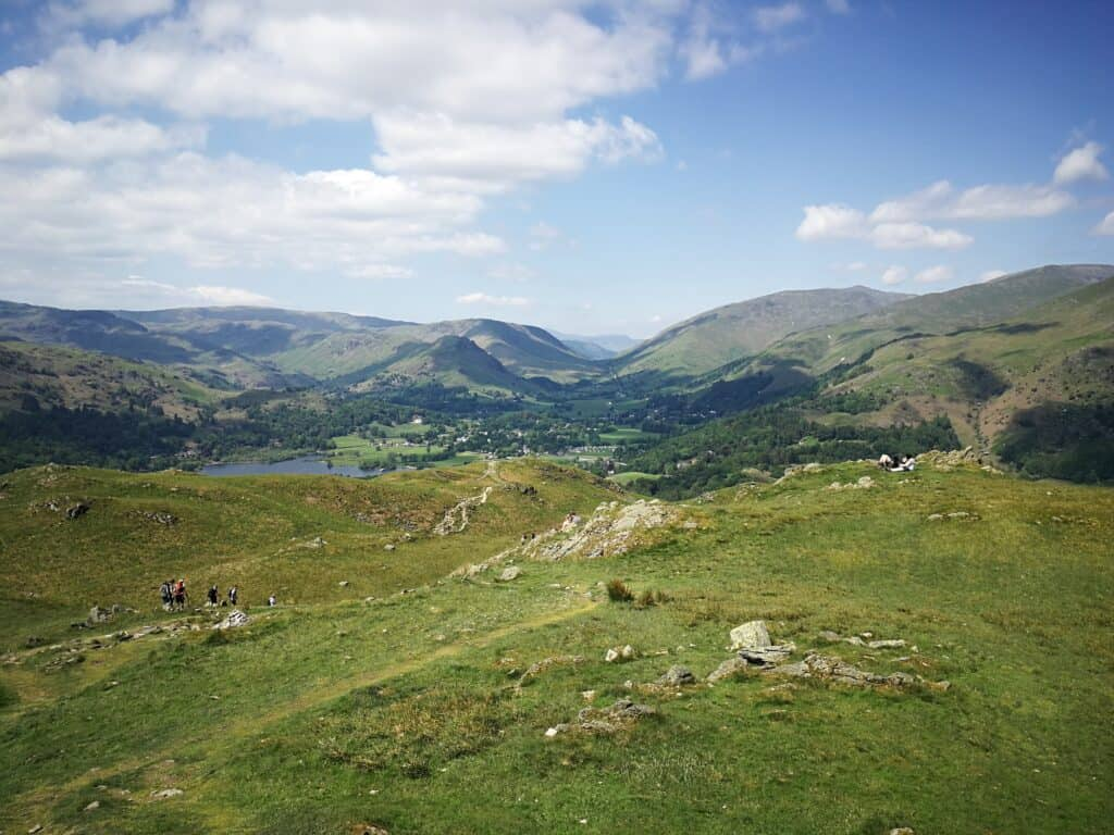 Views looking North from the peak of Loughrigg Fell