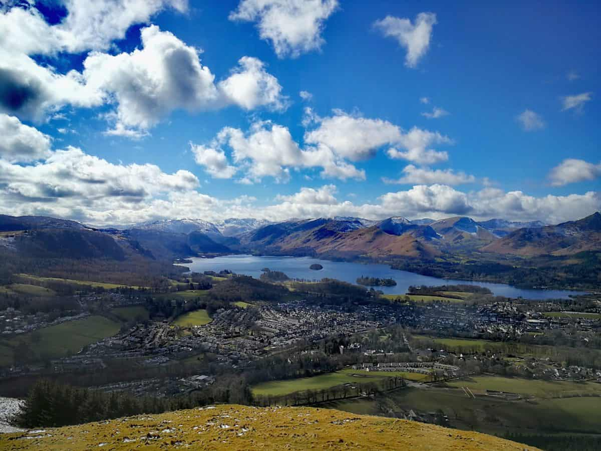 Views looking across the Lake District from Latrigg