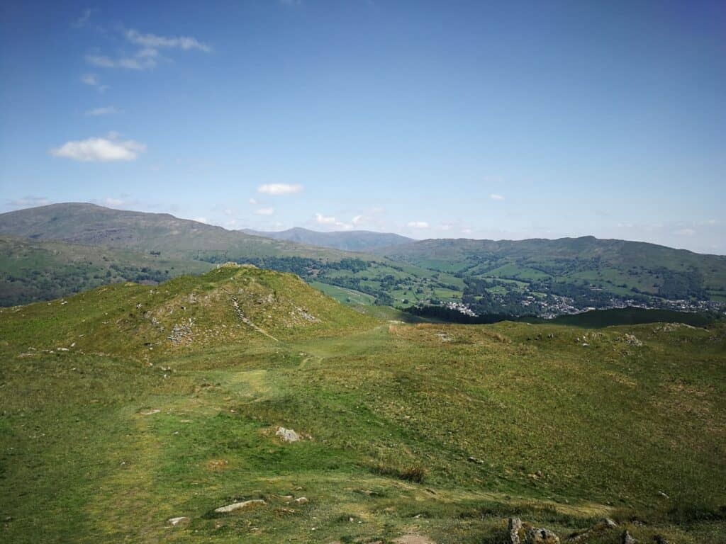 Views looking out to the West of Loughrigg Fell