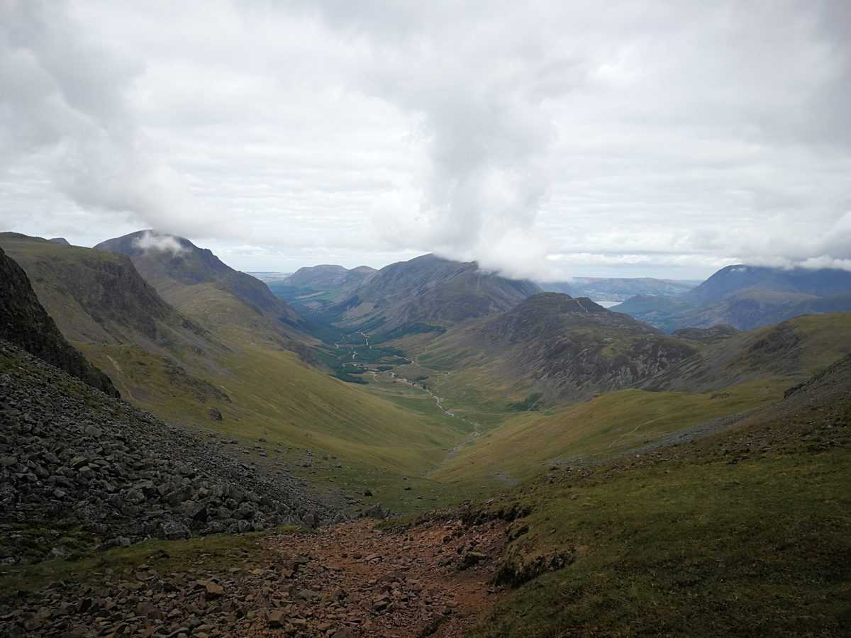 Windy Gap on Great Gable Wainwright in the Lake District