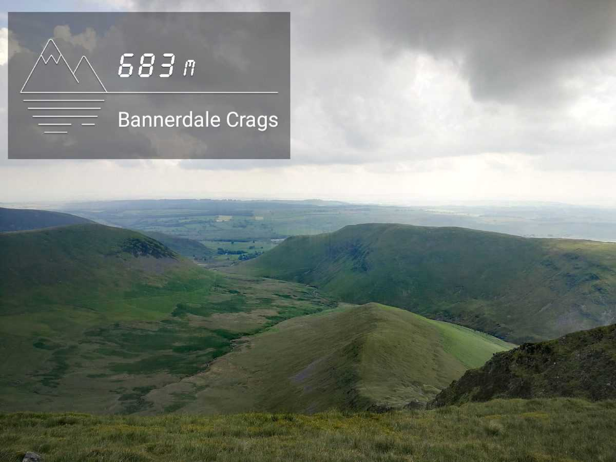 Bannerdale Crags in the Lake District. One of the 214 Wainwrights