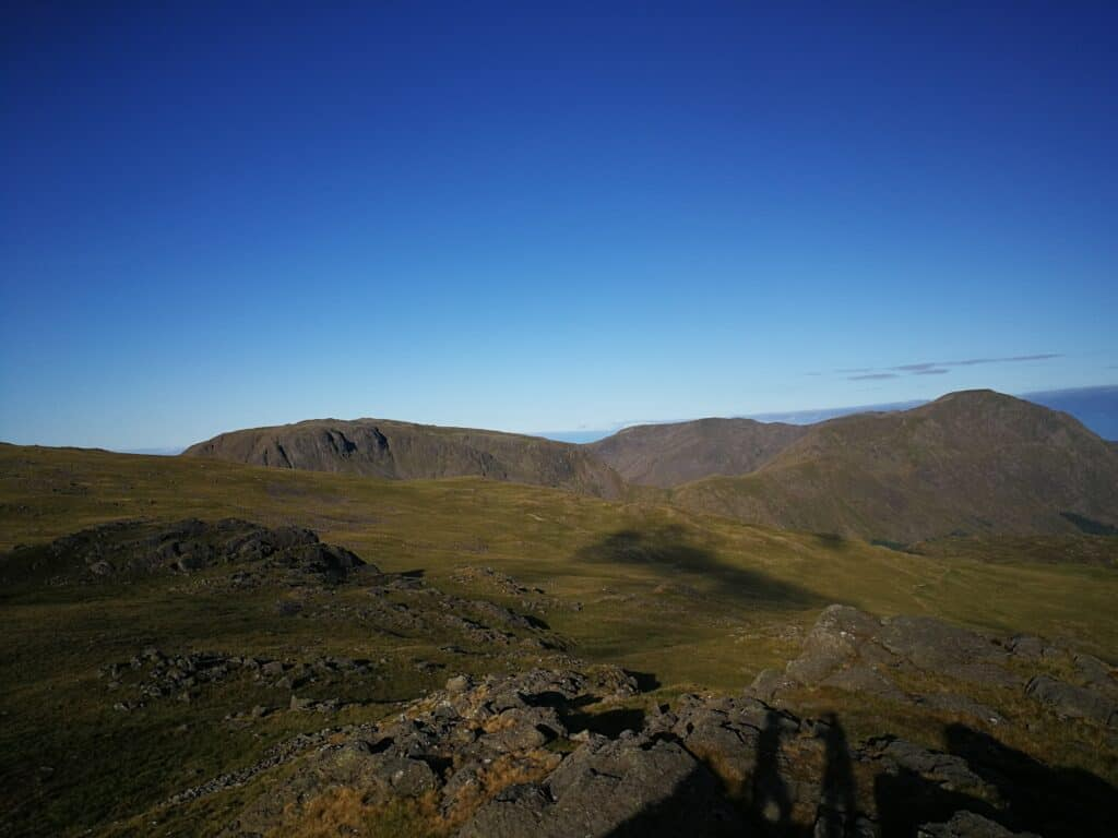 Grey Knotts looking towards Great Gable on our walk