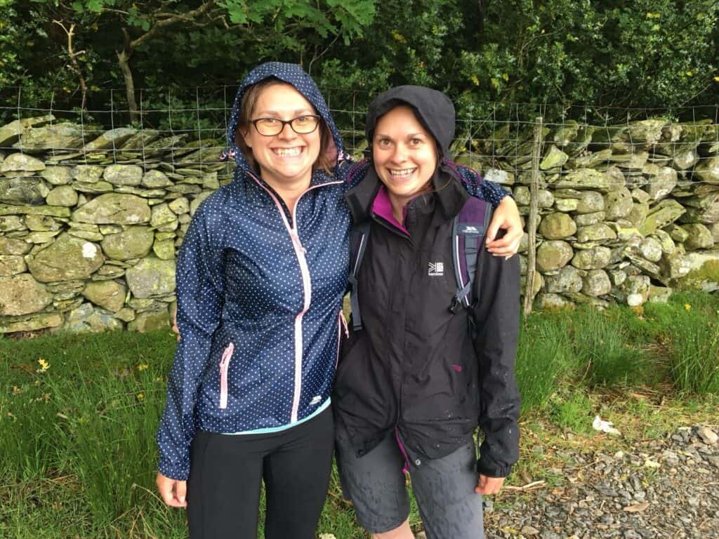 It rained in Borrowdale Lake District, one of the wettest places in England...finally