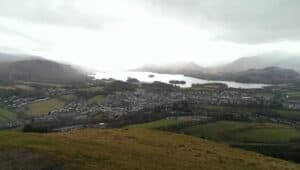 Latrigg summit in the Lake District in Cumbria