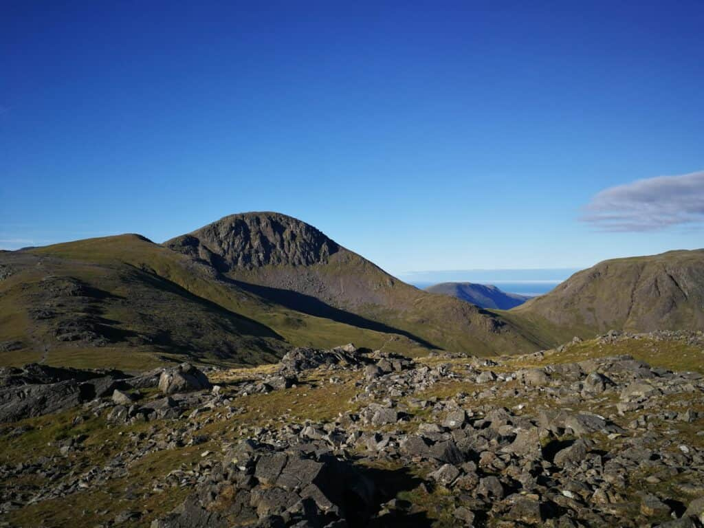 Looking at Great Gable and Kirk Fell from Brandreth Wainwright