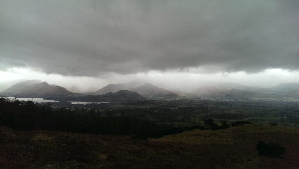 Looking out towards Catbells and Barrow, another two Wainwrights