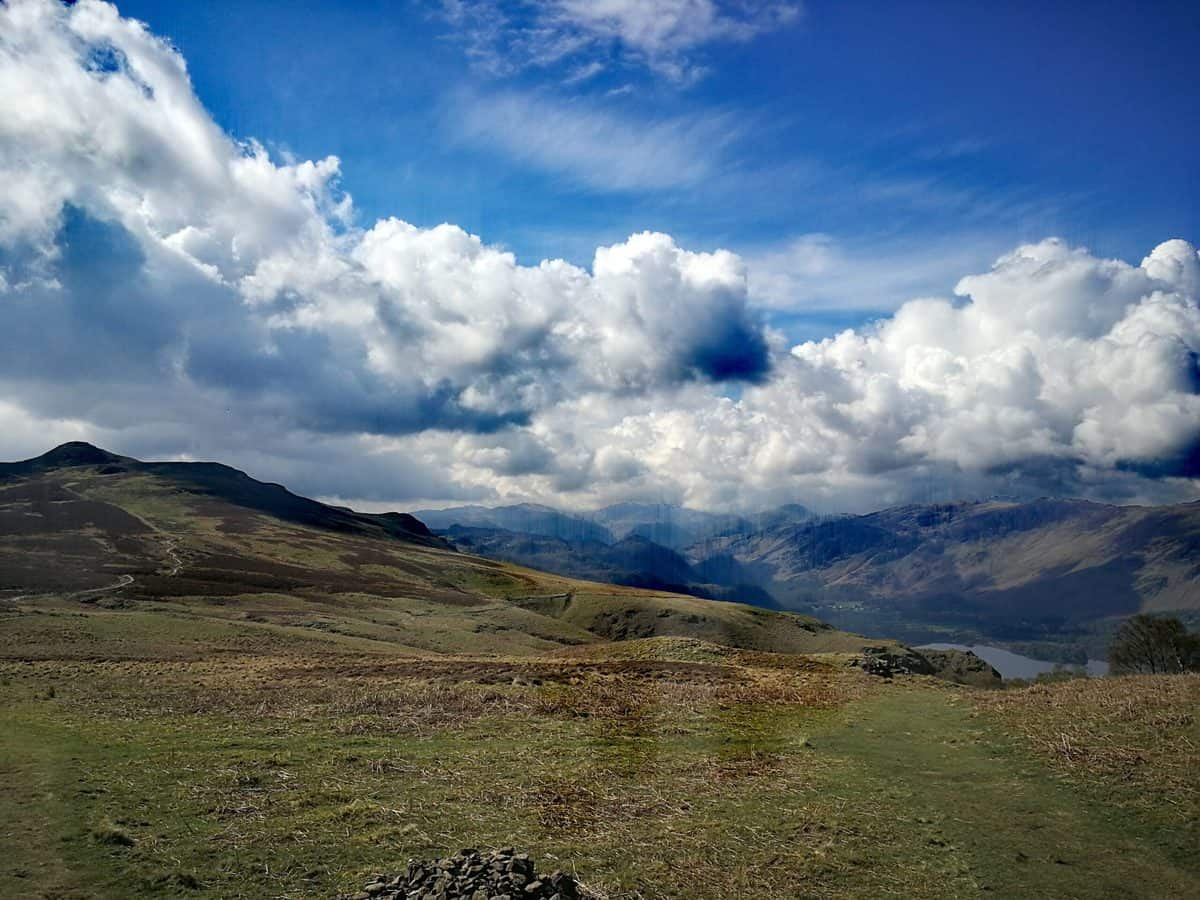 Looking towards Bleaberry Fell from Walla Crag