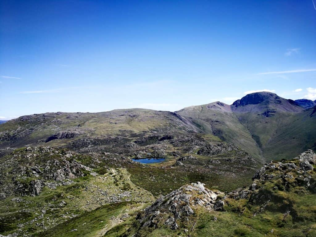 Looking towards Innominate Tarn where Alfred Wainwrights ashes were scattered