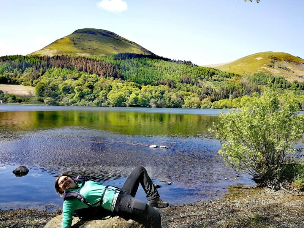 Lounging on the rocks overlooking Loweswater