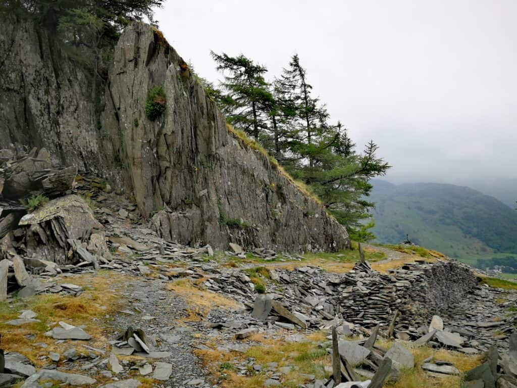 Slate on top of Castle Crag to be admired