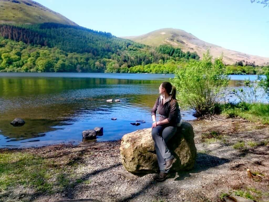 Taking in the scenery of Loweswater and the surrounding Wainwrights