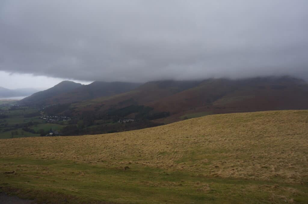 The views of where Skiddaw Little Man should be, with Dodd on the corner