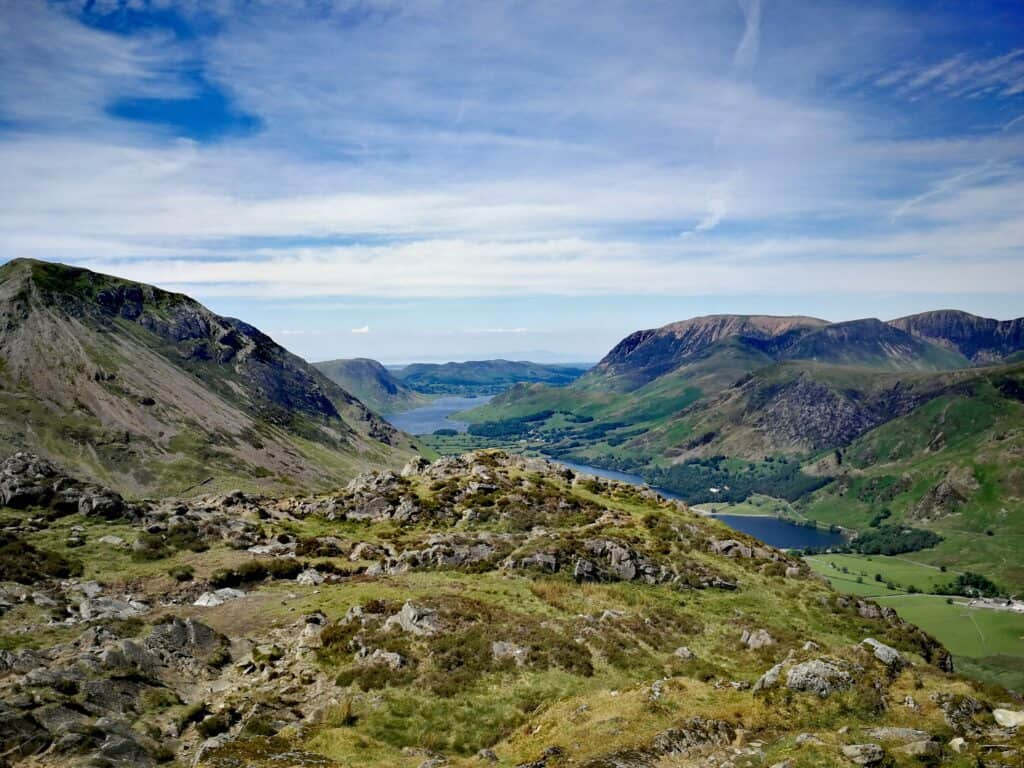 View from the Summit of Haystacks overlooking Buttermere and Crummock Water