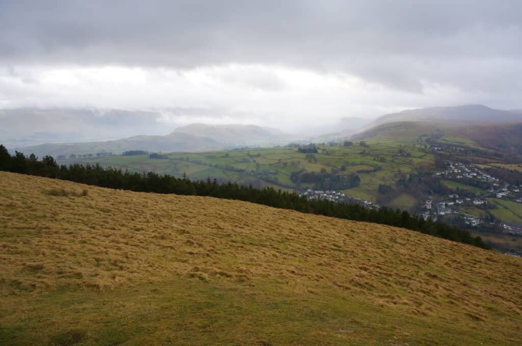 View of High Rigg. Helvellyn and Raven Crag (not today)