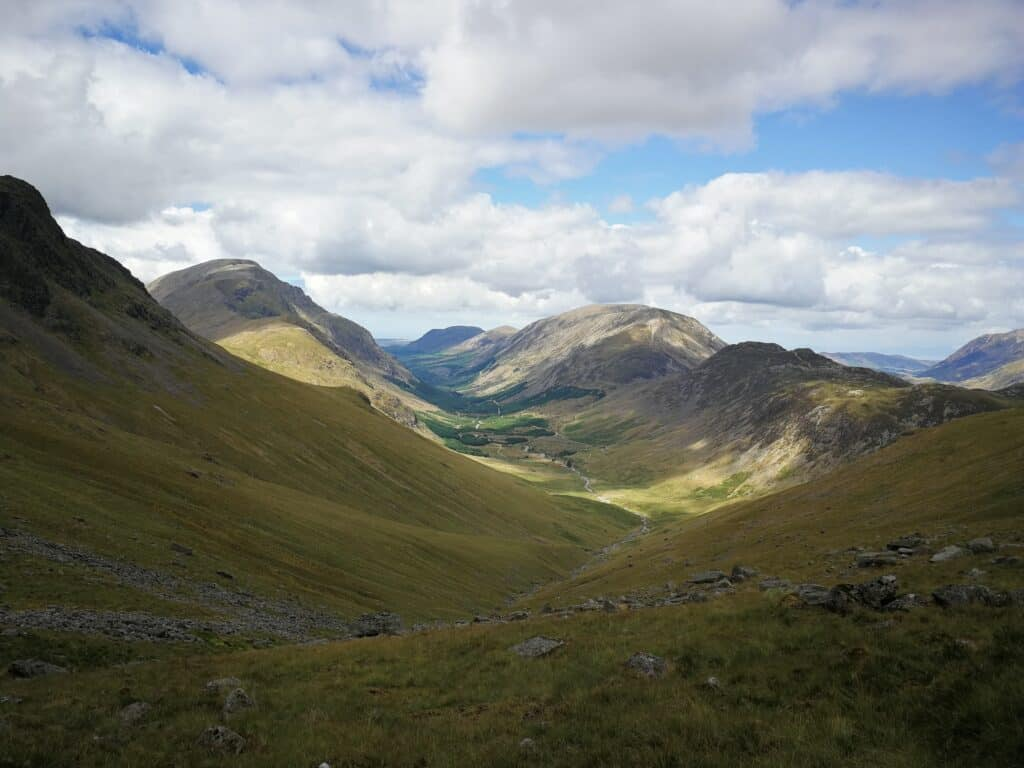 View on the way back to Honsiter Slate Mine. Walking on Moses' Trod