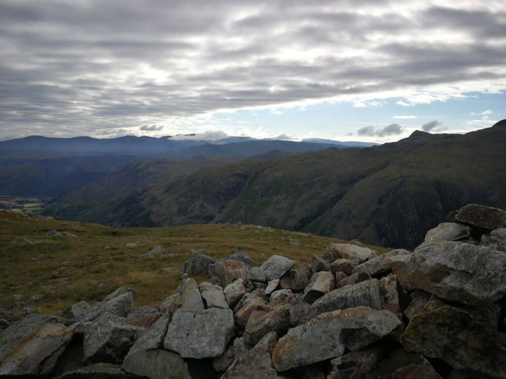 Views from Base Brown the Wainwrights in the Lake District