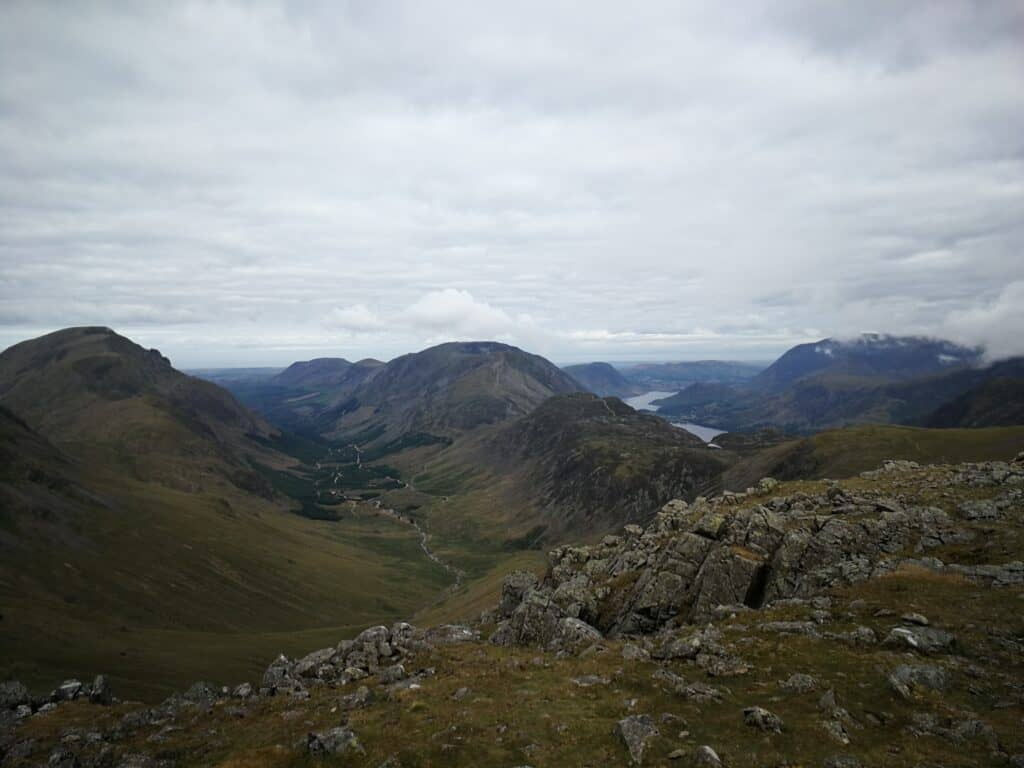 Views from Green Gable looking over Buttermere and Crummock Water