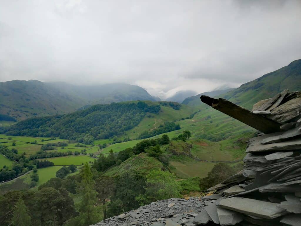 View of off Castle Crag towards Borrowdale Valley