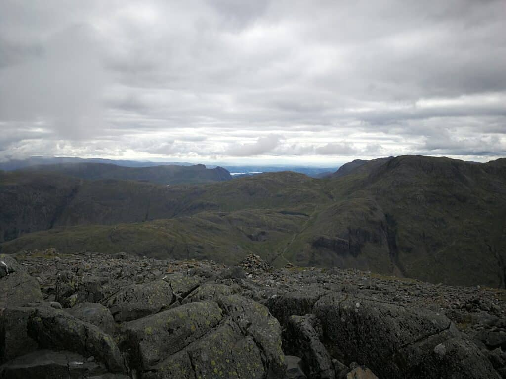 Views to the east of Great Gable, overlooking Glaramara on our walk
