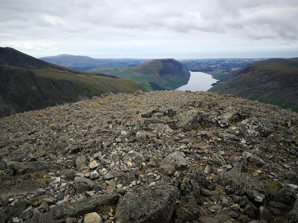 Wast Water to the south of Great Gable, the perfect place to start your hike up Scafell Pike