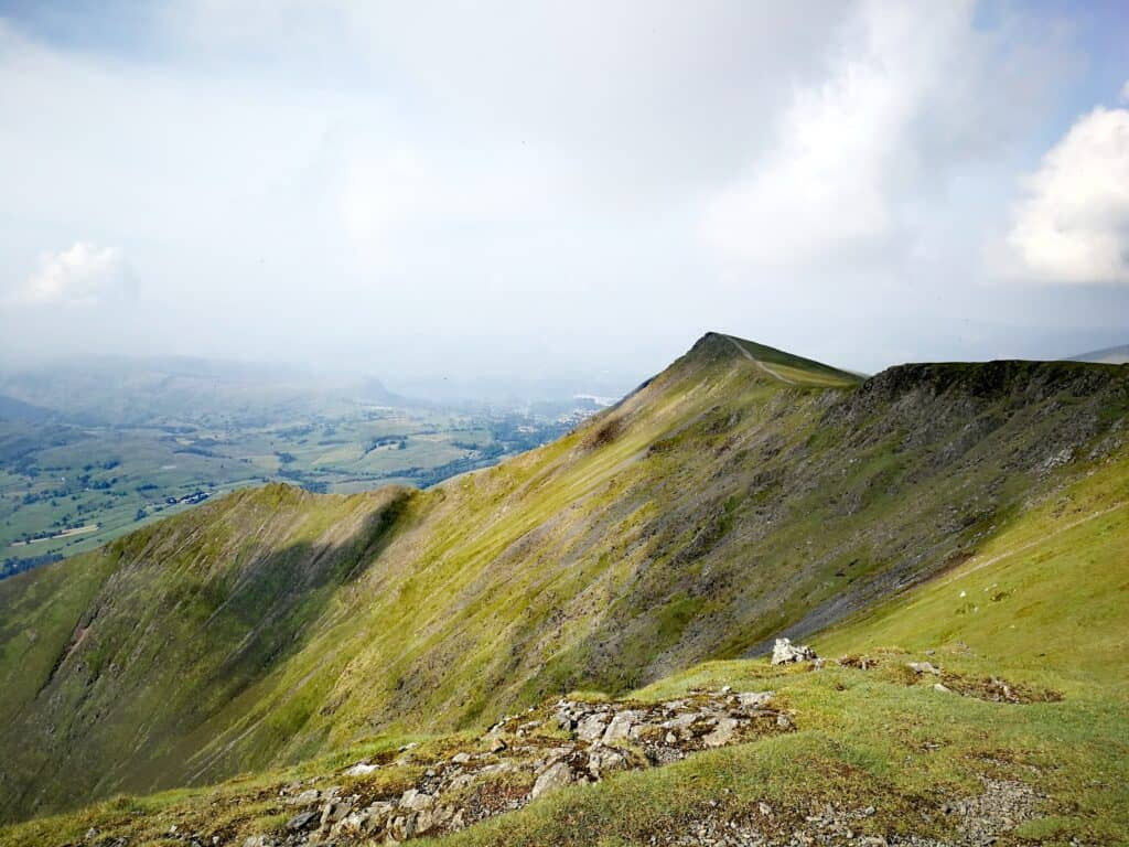 Atkinson Pike looking back towards Blencathra in the Lake District