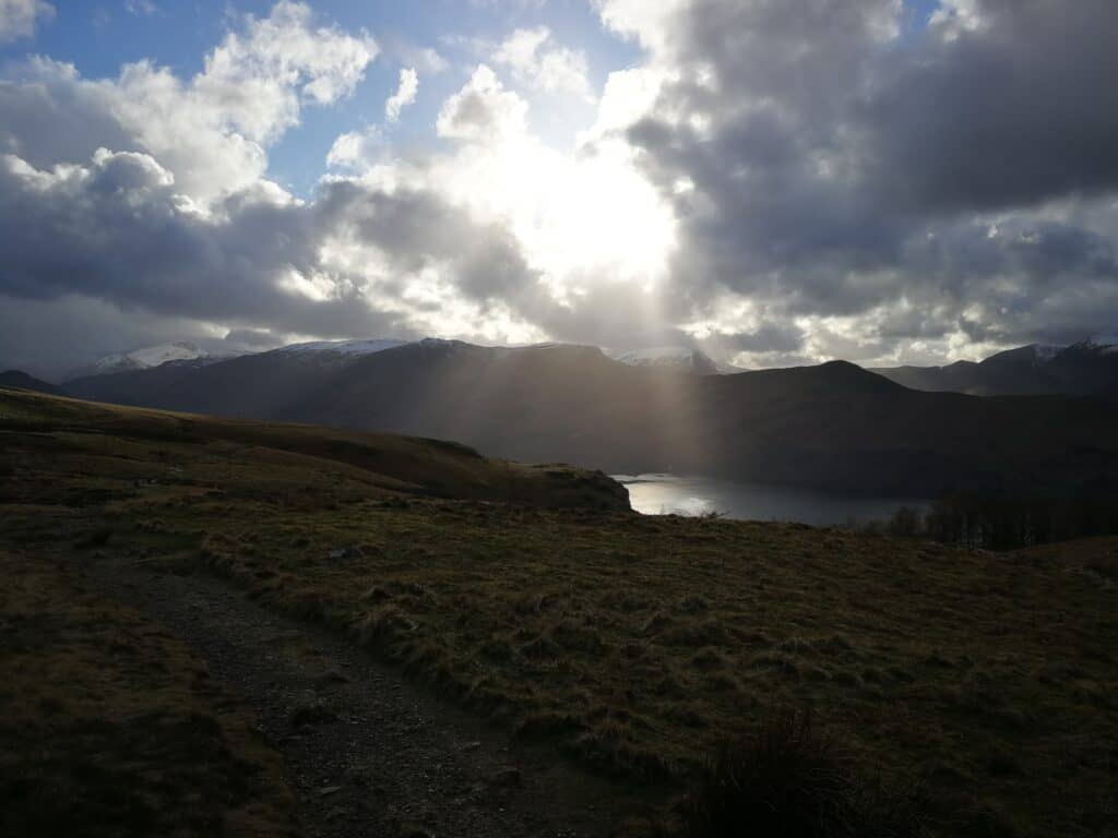 Back onto the main path for our walk to continue to Walla Crag, the final Wainwright of the day