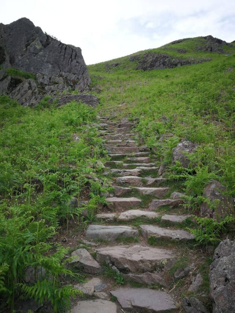 Cute path heading up to Helm Crag