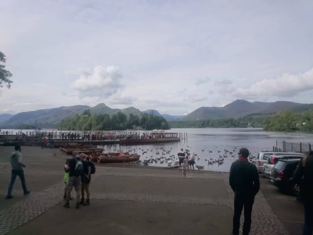 Lake Derwent at Keswick Launch, ready to get rowing