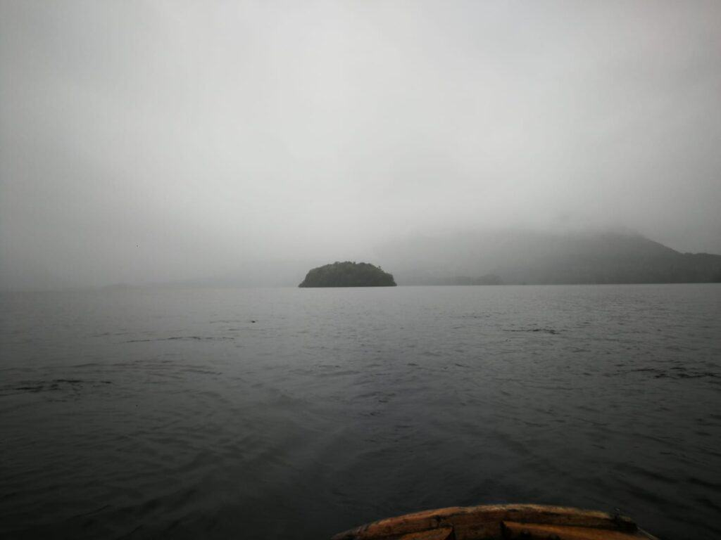 Can't see anything from the rain in the Lake District