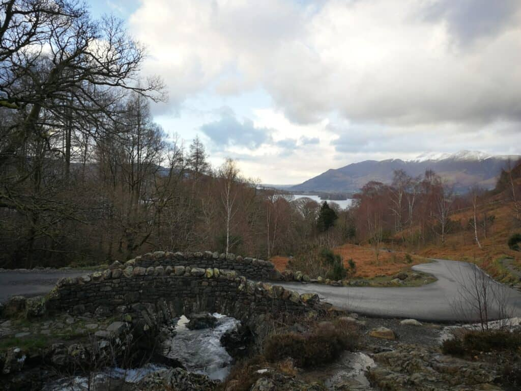 Final leg of the walk heading back towards the road and downhill to the car. Looking at Ashness Bridge one last time today